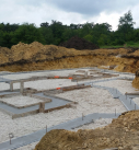 footings poured for new home
