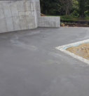 flatwork poured on iconic style home