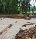 new home site ready for concrete footings