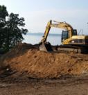 excavation on lake mendota for new home
