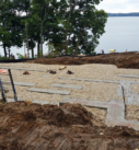 lakefront home footings poured
