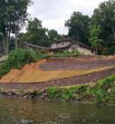 lakefront retaining walls installed