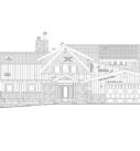 sketch of home being built on lake mendota in Middleton