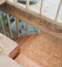 Ranch home stair framing