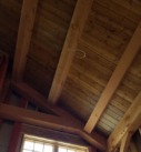Timber house ceiling