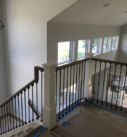 finished stair landing