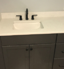 sink with faucet installed
