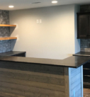 completed bar with granite counter