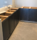 dark wood cabinetry
