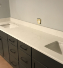 white bathroom counters