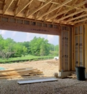 Garage during framing stage