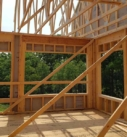 interior framing of a home