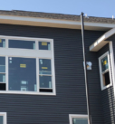 dark blue siding