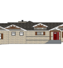 rendering of an exterior home remodel