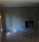 Demo of existing fireplace