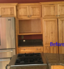 before photo of kitchen cabinetry