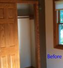 before photo of closet doors