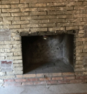 demolition of existing fireplace