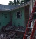 exterior siding and brick demo