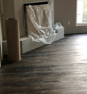 dark wood flooring in the living room