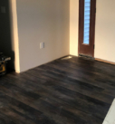 wood floor in entry way