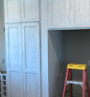white built in cabinetry