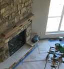 start of mantel install