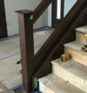 dark wood stair railling