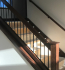 finished stair railing
