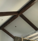 dark wood beams