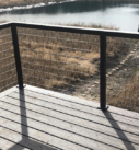 deck railing with metal cables