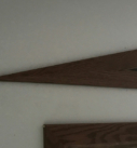 pointed wood detail of trim